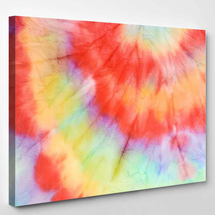 Hippie Pattern Grunge Watercolor Dirty Painting - Hippies Canvas Wall Decor