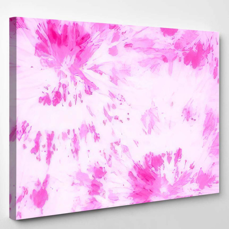 Hippie Spiral Elegant Hippy Colors Pink - Hippies Canvas Wall Decor