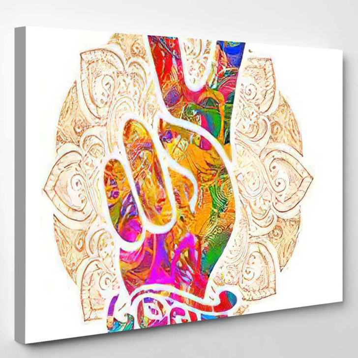 Hippie Symbols Two Fingers Sign Victory 1 - Hippies Canvas Wall Decor