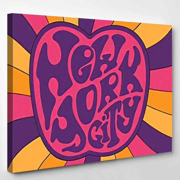 New York City Psychedelic 60S 70S - Hippies Canvas Wall Decor