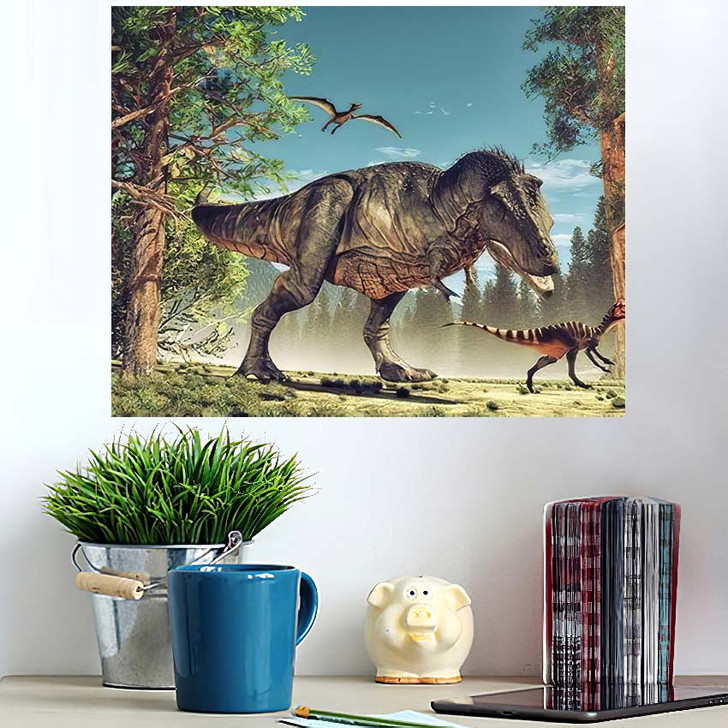 3D Render Dinosaur This Illustration 1 - Dinosaur Animals Wall Art Poster