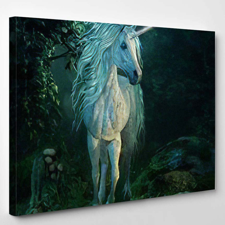 3D Computer Graphics Mythical Unicorn On - Fantasy Canvas Wall Decor