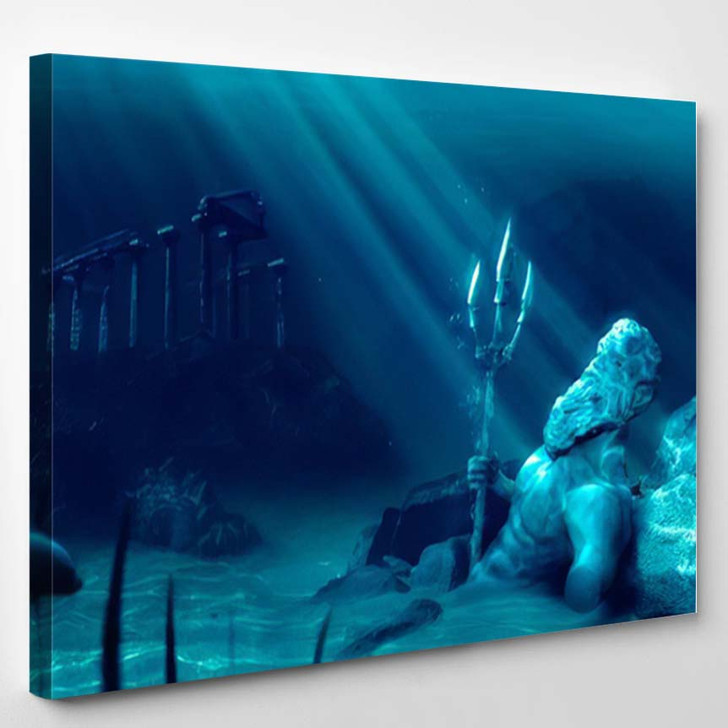 3D Illustration Based On Legend Lost - Fantasy Canvas Wall Decor