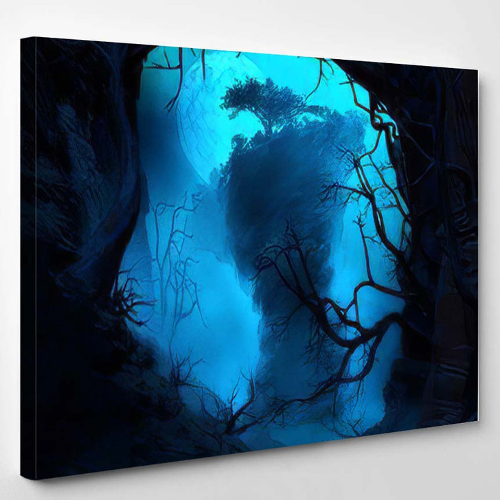 3D Illustration Landscape Where One Observes 1 - Fantasy Canvas Wall Decor