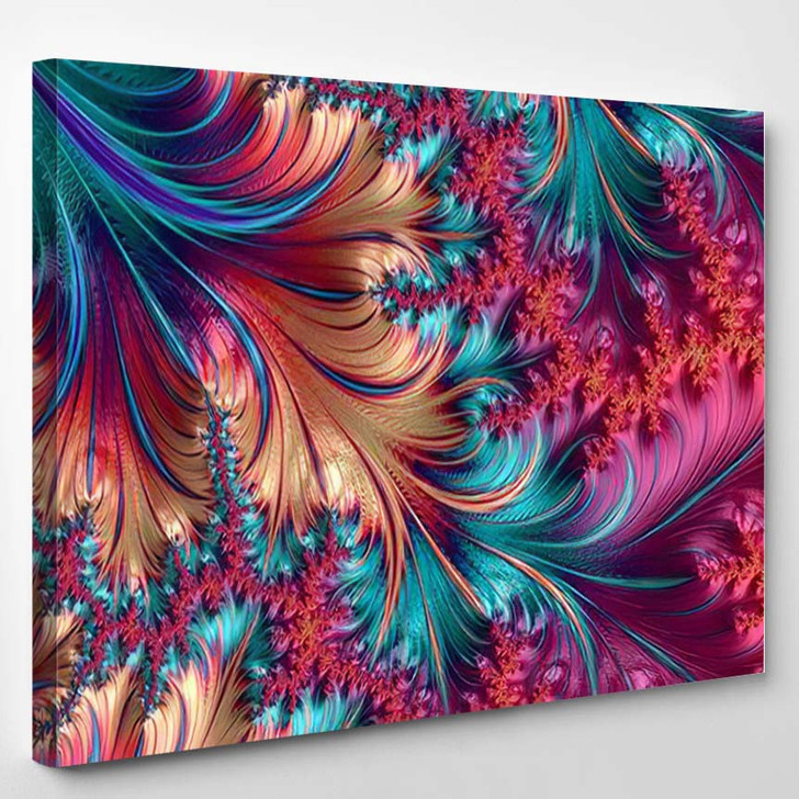 Abstract Computer Generated Fractal Design Neverending - Fantasy Canvas Wall Decor