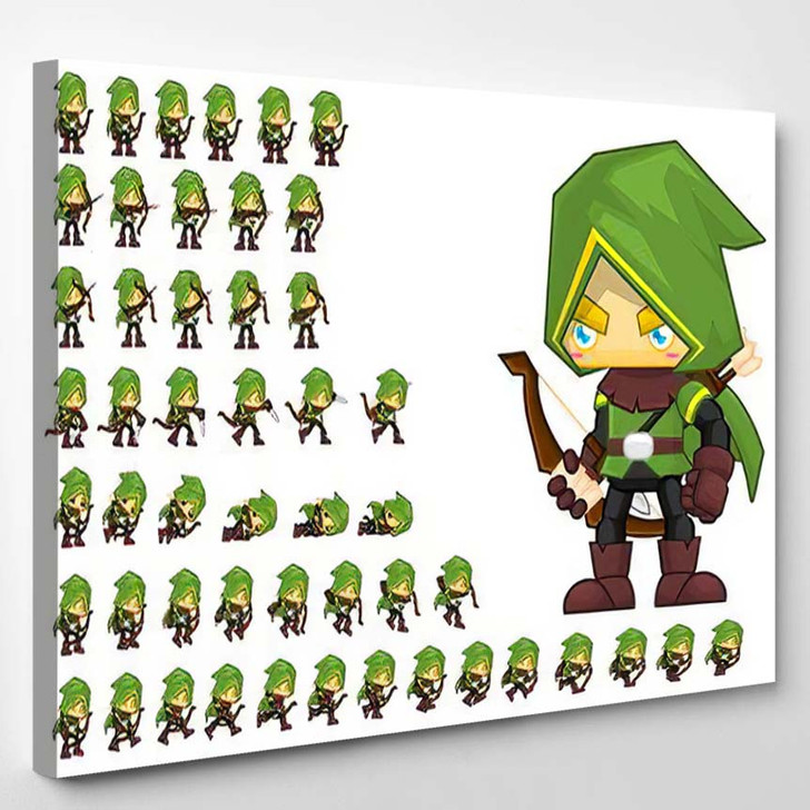 Archer Animated Character Creating Fantasy Video - Fantasy Canvas Wall Decor