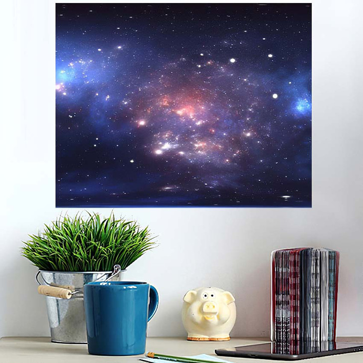 360 Degree Space Nebula Panorama Equirectangular - Sky and Space Wall Art Poster
