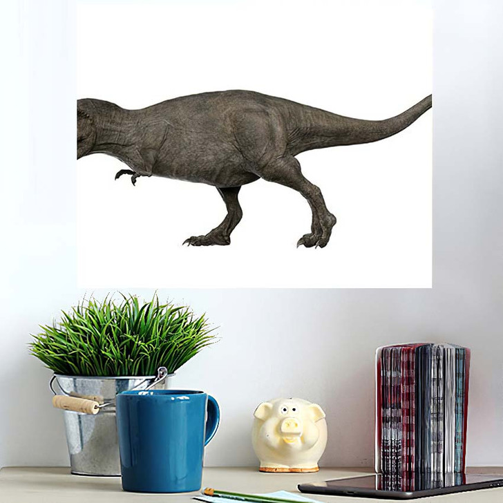 3D Rendered Trex Tyrannosaurus Rex 1 - Godzilla Animals Wall Art Poster