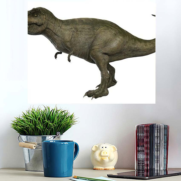 3D Rendered Trex Tyrannosaurus Rex 7 - Godzilla Animals Wall Art Poster