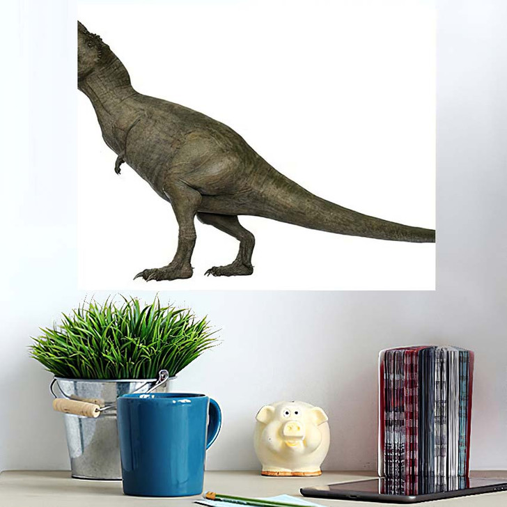 3D Rendered Trex Tyrannosaurus Rex 8 - Godzilla Animals Wall Art Poster