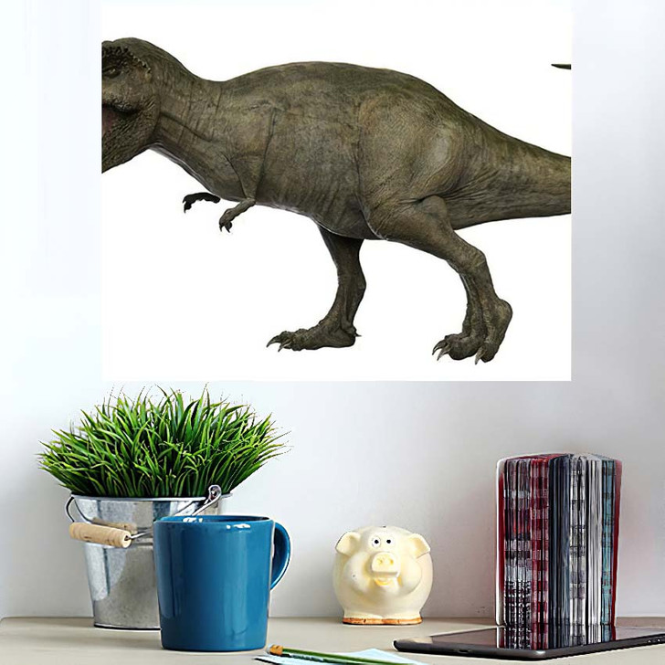3D Rendered Trex Tyrannosaurus Rex 13 - Godzilla Animals Wall Art Poster