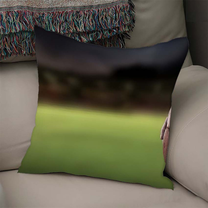 3D Cropped Image American Football Player - Football Linen Throw Pillow