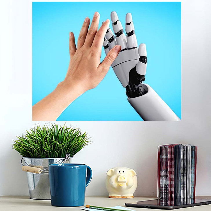 3D Rendering Artificial Intelligence Ai Research 2 - Creation of Adam Wall Art Poster