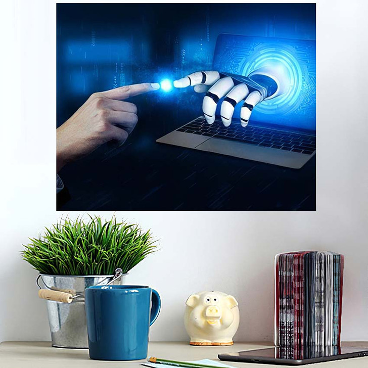 3D Rendering Artificial Intelligence Ai Research 4 - Creation of Adam Wall Art Poster