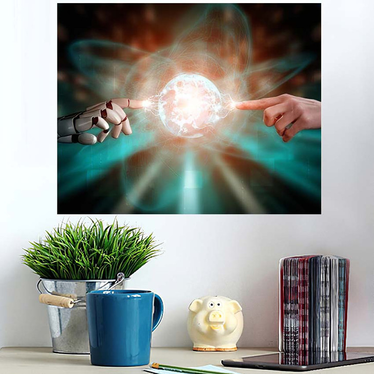 3D Rendering Artificial Intelligence Ai Research 11 - Creation of Adam Wall Art Poster
