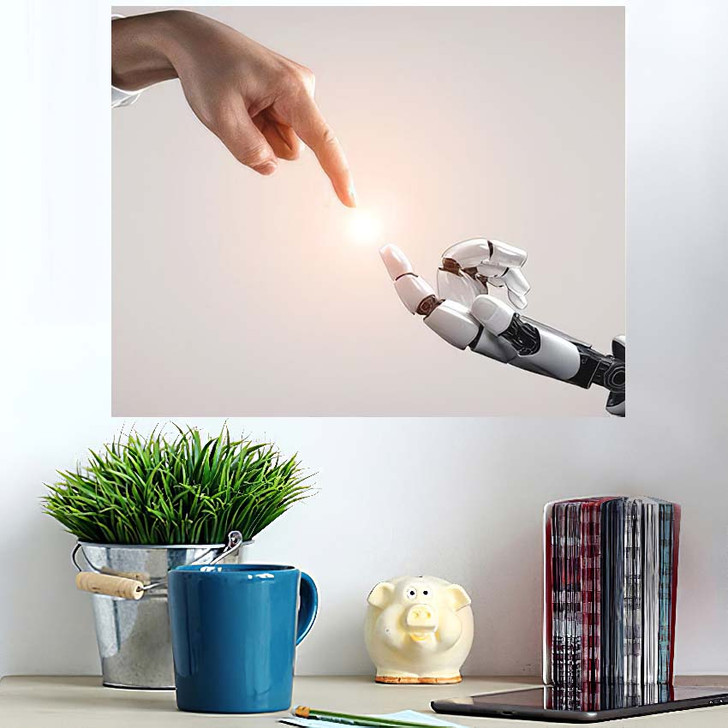 3D Rendering Artificial Intelligence Ai Research 12 - Creation of Adam Wall Art Poster