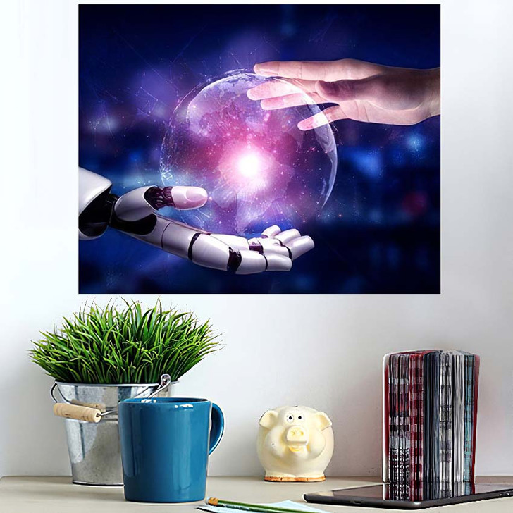 3D Rendering Artificial Intelligence Ai Research 13 - Creation of Adam Wall Art Poster