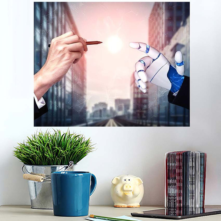 3D Rendering Artificial Intelligence Ai Research 15 - Creation of Adam Wall Art Poster
