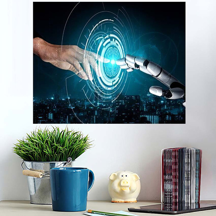 3D Rendering Artificial Intelligence Ai Research 17 - Creation of Adam Wall Art Poster