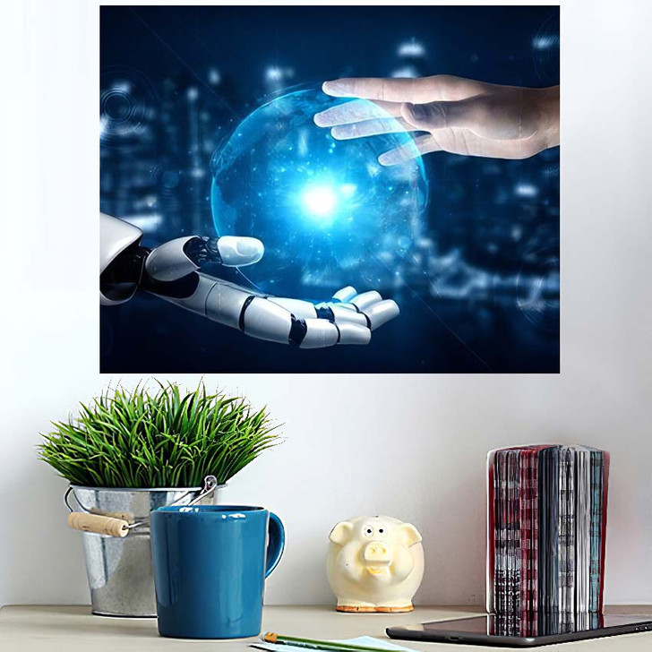 3D Rendering Artificial Intelligence Ai Research 18 - Creation of Adam Wall Art Poster