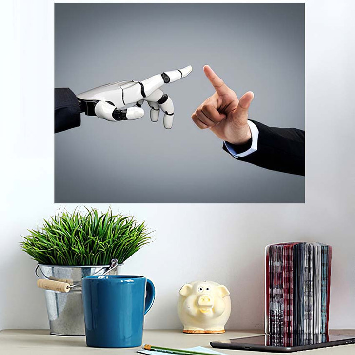 3D Rendering Artificial Intelligence Ai Research 36 - Creation of Adam Wall Art Poster