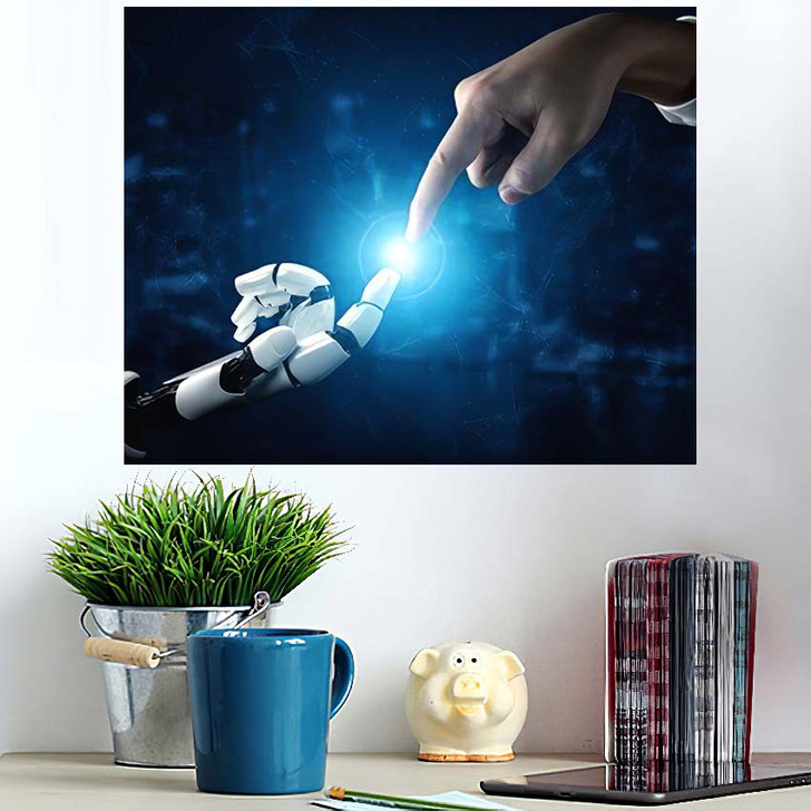 3D Rendering Artificial Intelligence Ai Research 37 - Creation of Adam Wall Art Poster