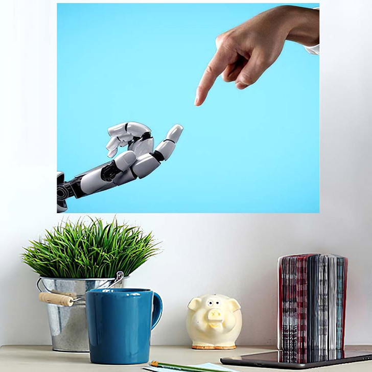 3D Rendering Artificial Intelligence Ai Research 40 - Creation of Adam Wall Art Poster