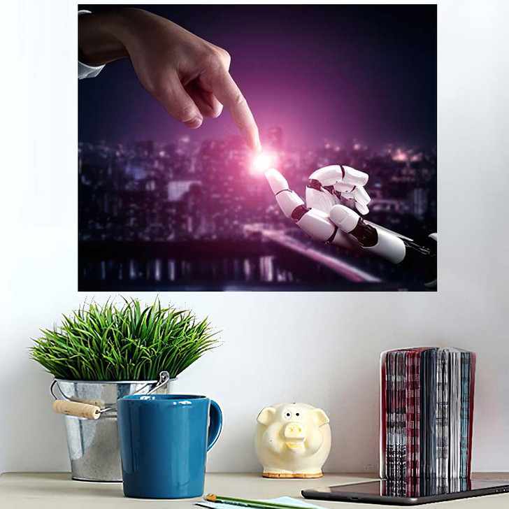 3D Rendering Artificial Intelligence Ai Research 43 - Creation of Adam Wall Art Poster