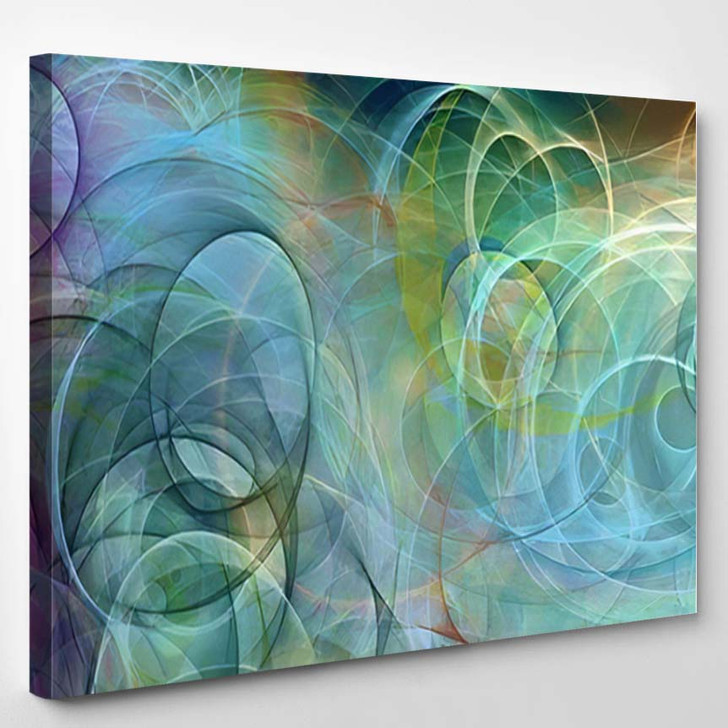 Abstract Background Psychedelic Colored Penciled Generated 1 - Psychedelic Canvas Wall Decor