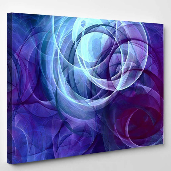 Abstract Background Psychedelic Colored Penciled Generated 2 - Psychedelic Canvas Wall Decor