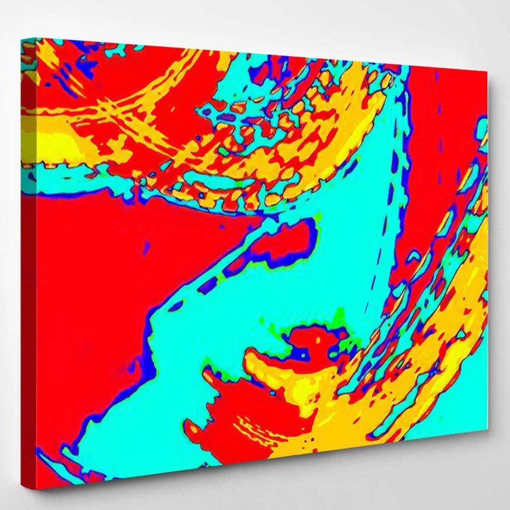Abstract Backgroundwallpaper Design Made Vivid Vibrant - Psychedelic Canvas Wall Decor