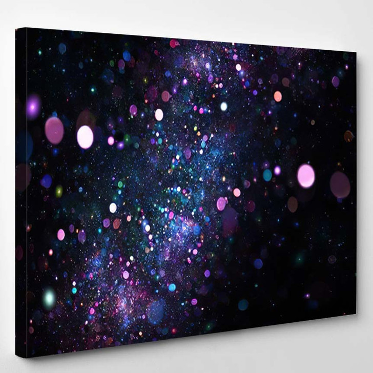 Abstract Colorful Blue Purple Bokeh On - Psychedelic Canvas Wall Decor
