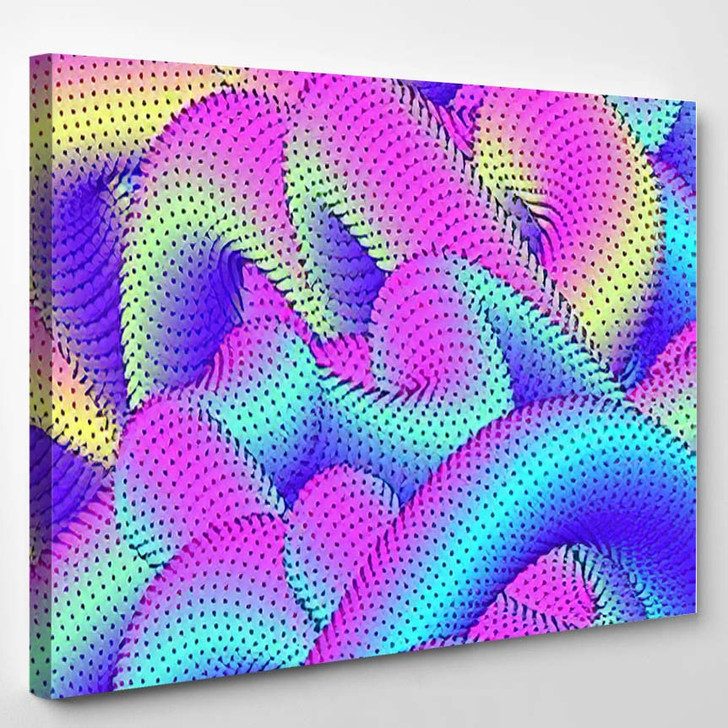 Abstract Colorful Psychedelic Background Modern Vector - Psychedelic Canvas Wall Decor