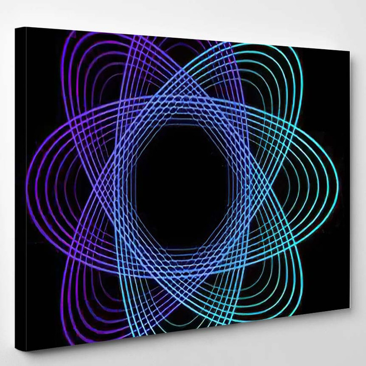 Abstract Geometric Shape Colorful Figure - Psychedelic Canvas Wall Decor