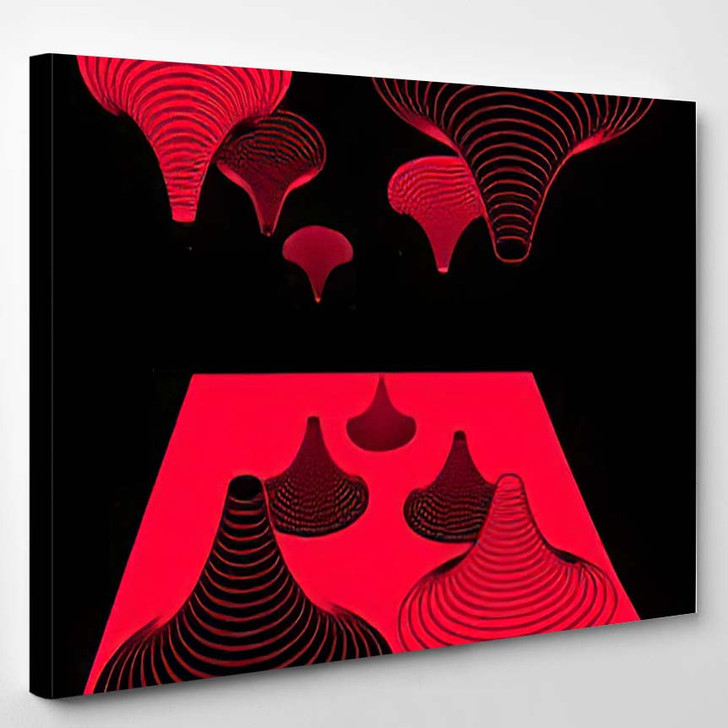 Abstract Psychedelic Background Futuristic Surreal Geometric - Psychedelic Canvas Wall Decor