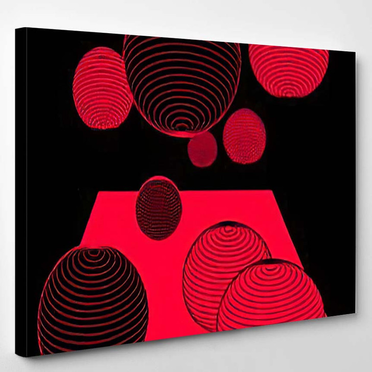 Abstract Psychedelic Background Futuristic Surreal Geometric 2 - Psychedelic Canvas Wall Decor