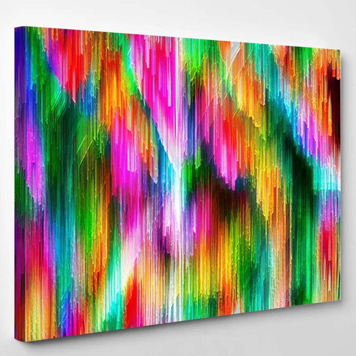 Abstract Psychedelic Background Image - Psychedelic Canvas Wall Decor