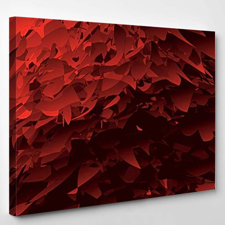 Abstract Red Vector Background Distortion Effect - Psychedelic Canvas Wall Decor