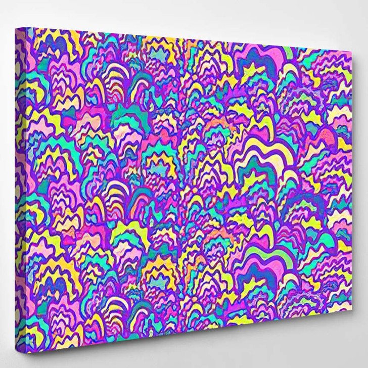 Abstract Vector Creative Pattern Psychedelic Style - Psychedelic Canvas Wall Decor