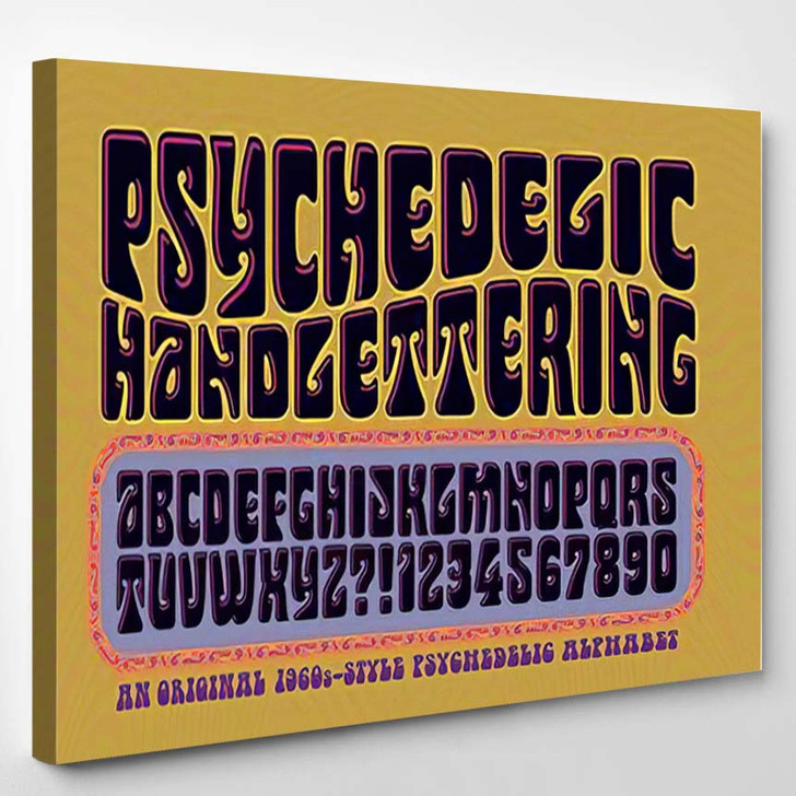 Alphabet Style 1960S Psychedelic Posters Album - Psychedelic Canvas Wall Decor