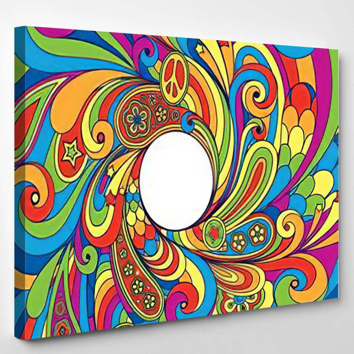 Background Retro Style 4 - Psychedelic Canvas Wall Decor