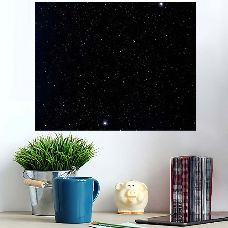 2D Illustration Deep Vast Space Stars 1 - Galaxy Sky and Space Wall Art Poster