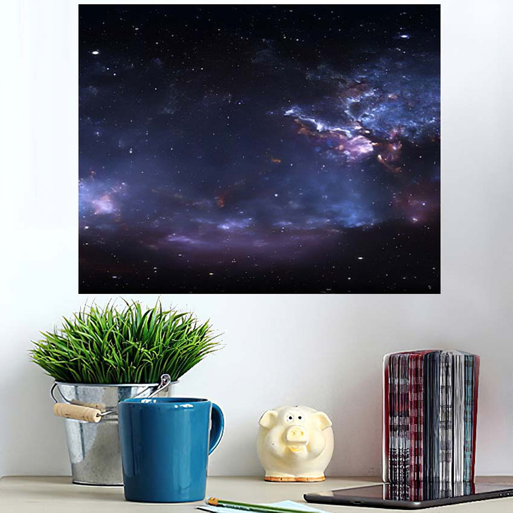360 Degree Space Nebula Panorama Equirectangular 1 - Galaxy Sky and Space Wall Art Poster