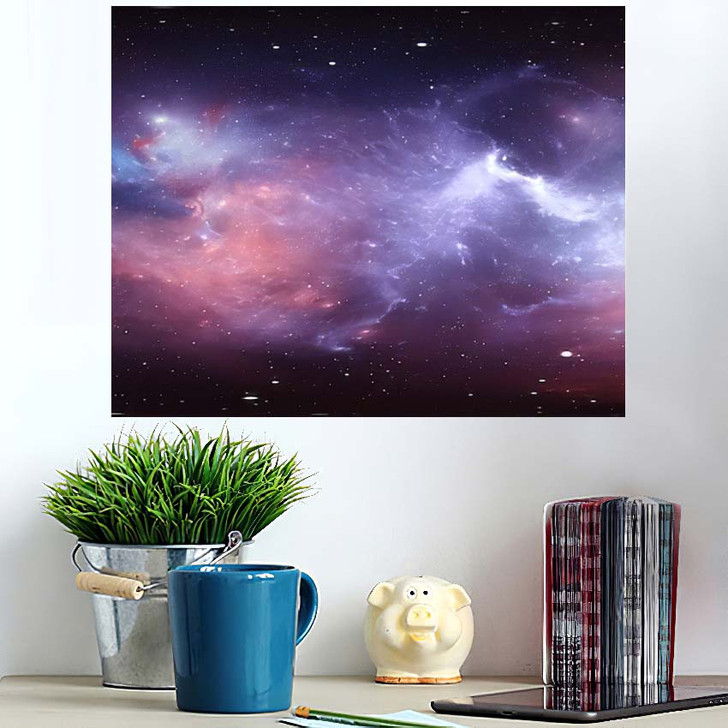 360 Degree Space Nebula Panorama Equirectangular 3 - Galaxy Sky and Space Wall Art Poster
