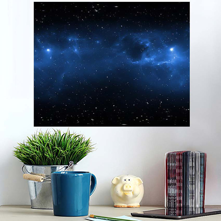 360 Degree Space Nebula Panorama Equirectangular 4 - Galaxy Sky and Space Wall Art Poster