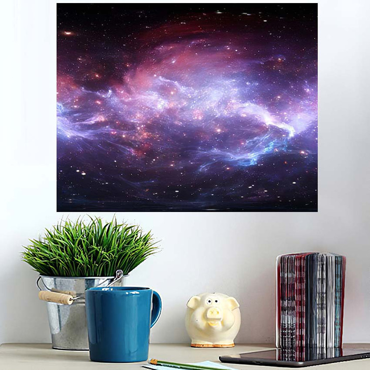 360 Degree Space Nebula Panorama Equirectangular 5 - Galaxy Sky and Space Wall Art Poster