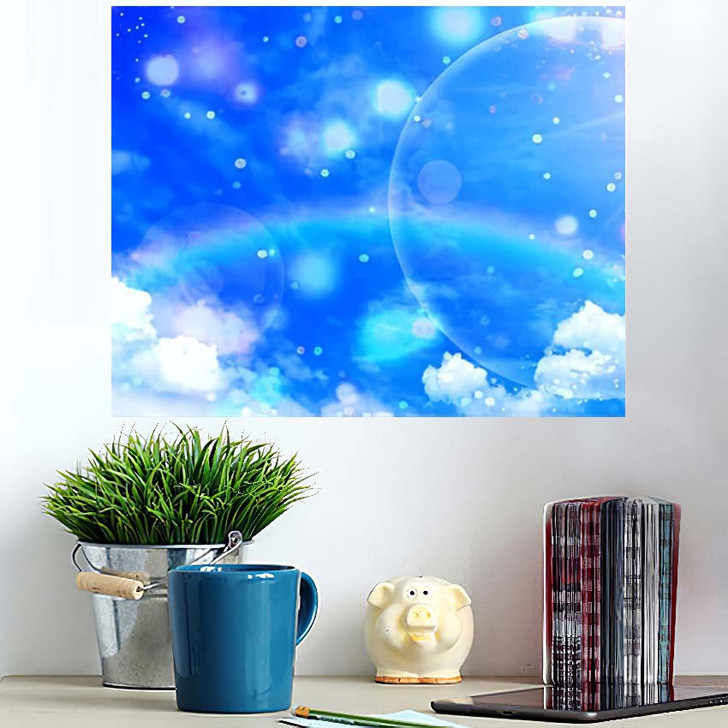 3D Illustration Fantastic Sky - Galaxy Sky and Space Wall Art Poster