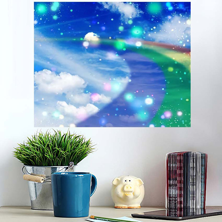 3D Illustration Fantastic Sky 3 - Galaxy Sky and Space Wall Art Poster