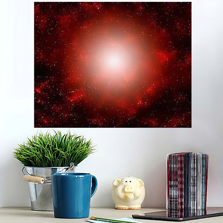 3D Illustration Planets Galaxy Science Fiction 2 - Galaxy Sky and Space Wall Art Poster