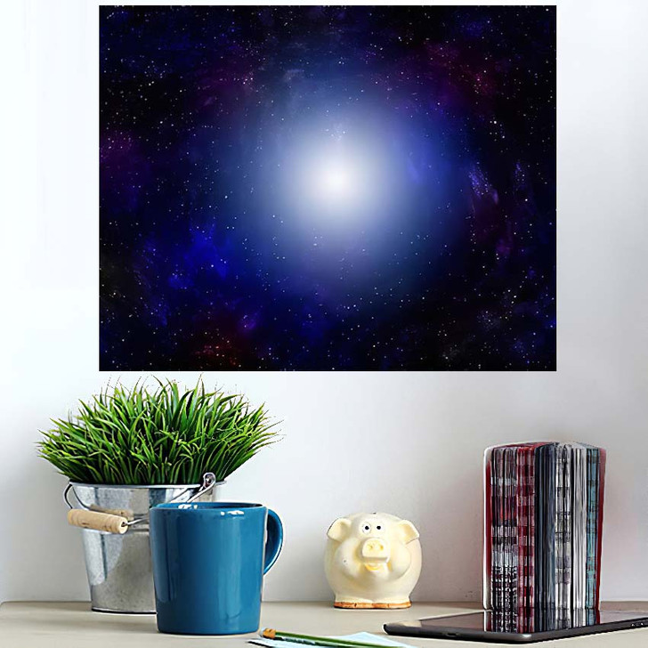 3D Illustration Planets Galaxy Science Fiction 3 - Galaxy Sky and Space Wall Art Poster